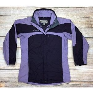 Columbia Jacket Front Zip Pockets Purple Coat